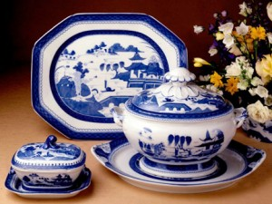 Blue Canton Patterned China