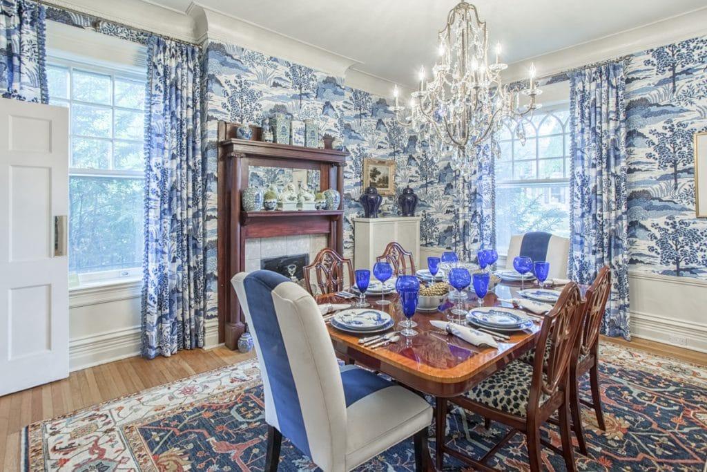 dining room wallpaper design